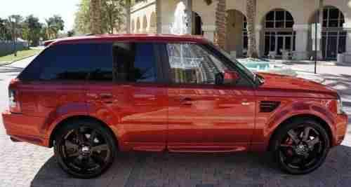 Amazing Deep Red Metallic 2010 Land Rover Range Rover Sport Supercharged Image 3 Range Rover Sport Range Rover Land Rover