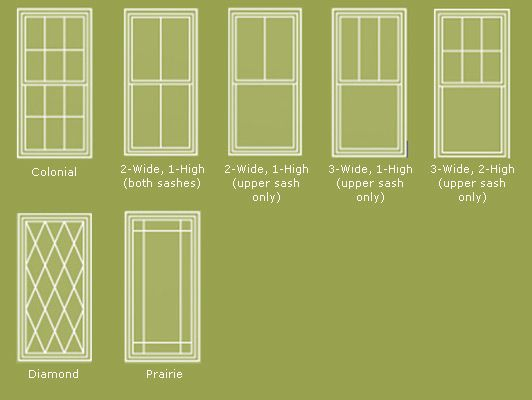 wood windows: anderson wood window grilles | windows for house