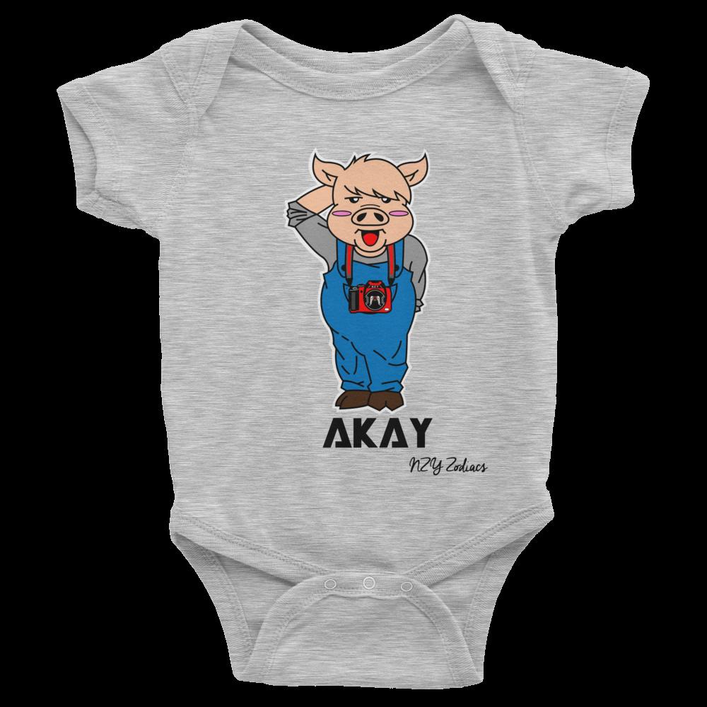 Akay Pig Chinese Zodiac Baby Onesie – Stellar Names