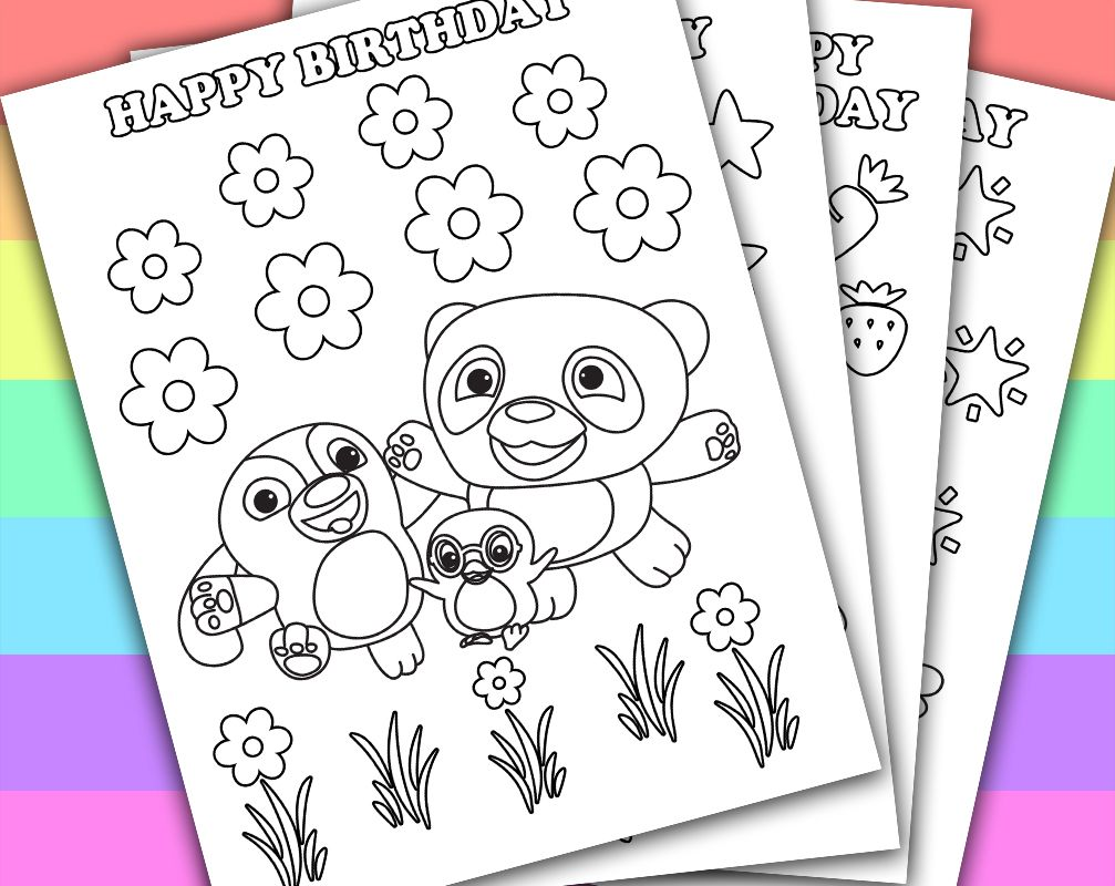 ruff ruff tweet dave birthday favors 4 coloring pages digital printable pdf digital instant