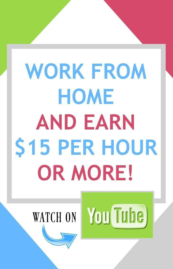 Work from Home and Earn $15 Per Hour or More - youtube.com/c ...