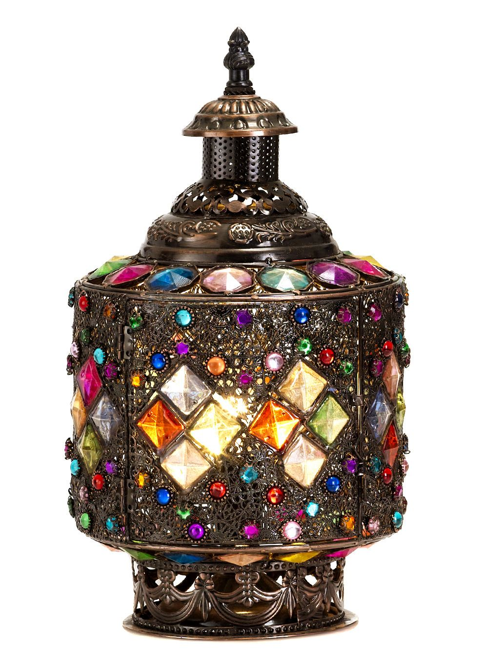 Hurricane Beaded Table Lamp Beaded Lamps Moroccan Table
