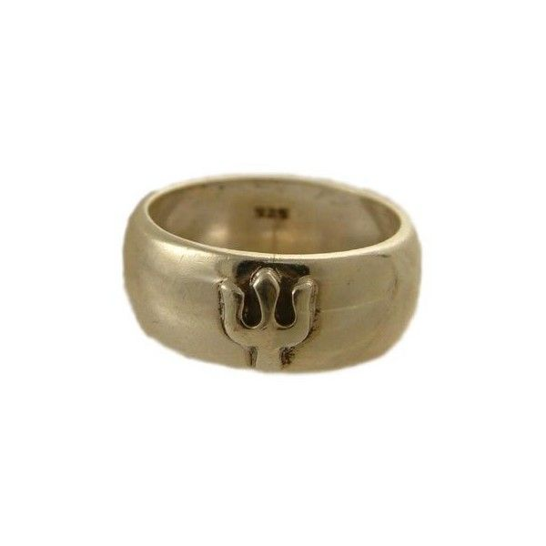 Trident Ring of Shiva Hindu Deity liked on Polyvore featuring