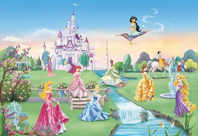 Fototapete Princess Castle 4 Teilig Fototapete Disney