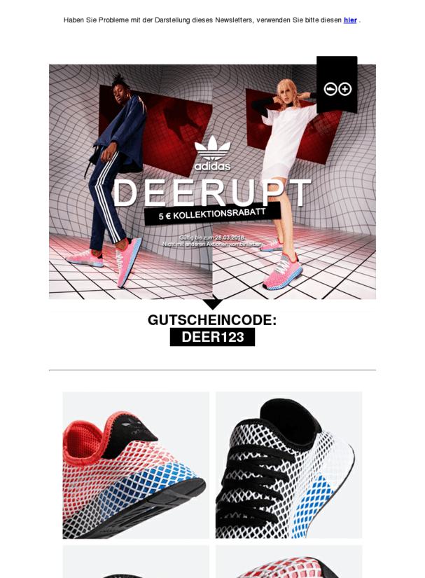 Die neuen adidas Deerupt + 5 € Rabatt für Dich • Schuhe