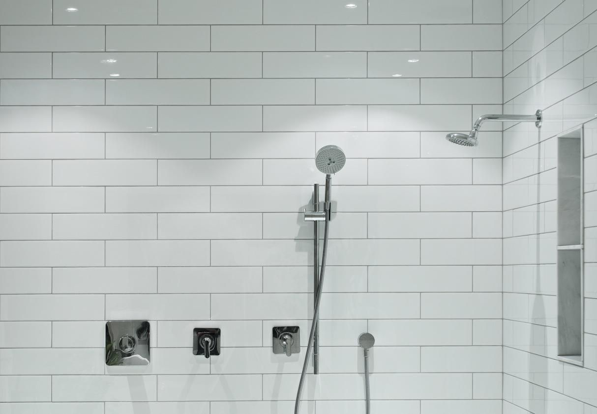 Image Result For 4x16 White Subway Tile Installed In