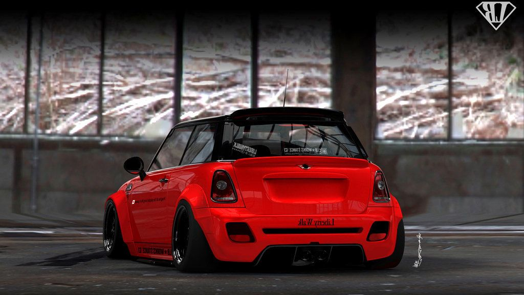 mini cooper r56 body kit tuning rear bumper rear diffuser. Black Bedroom Furniture Sets. Home Design Ideas