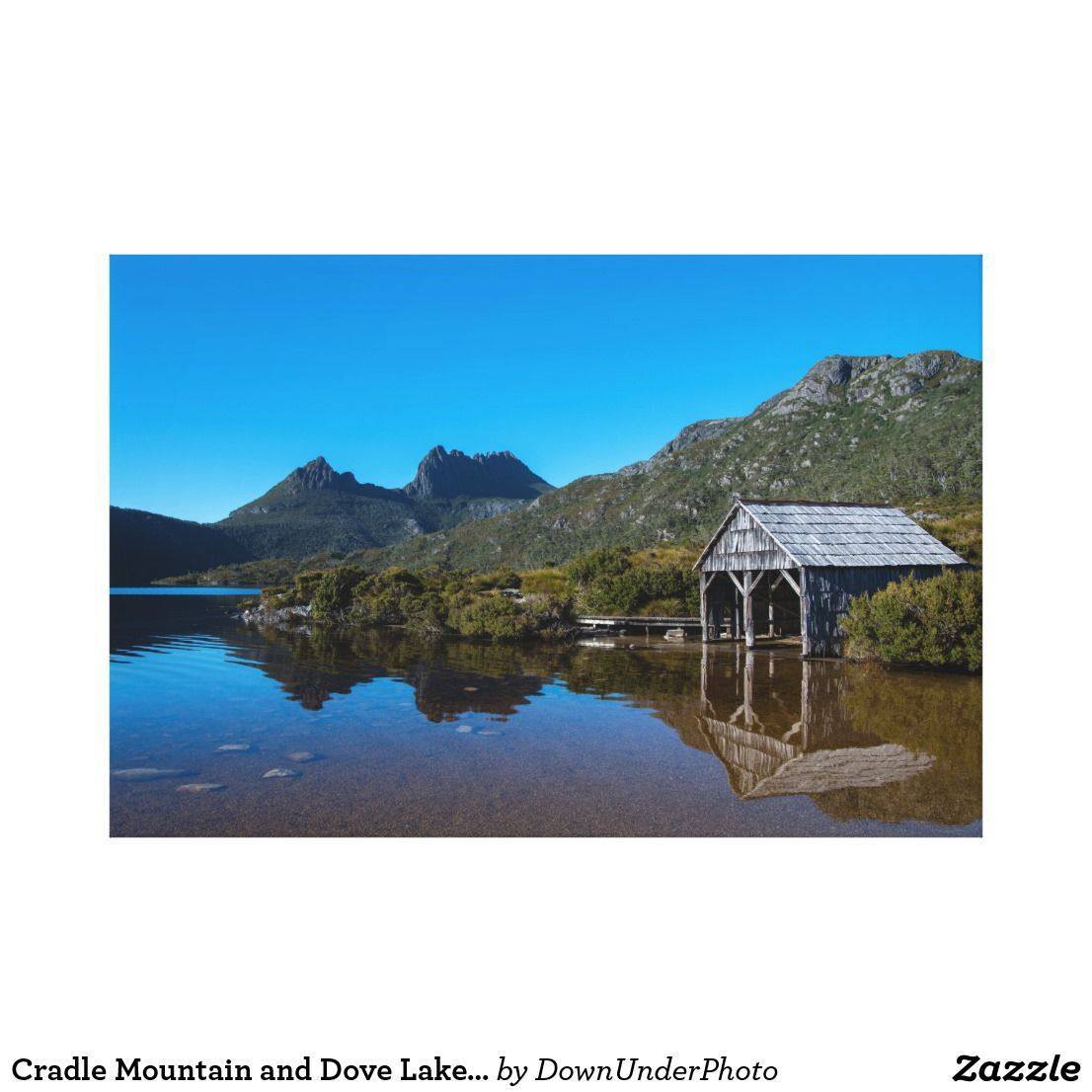 Cradle Mountain And Dove Lake Tasmania Australia Canvas Print