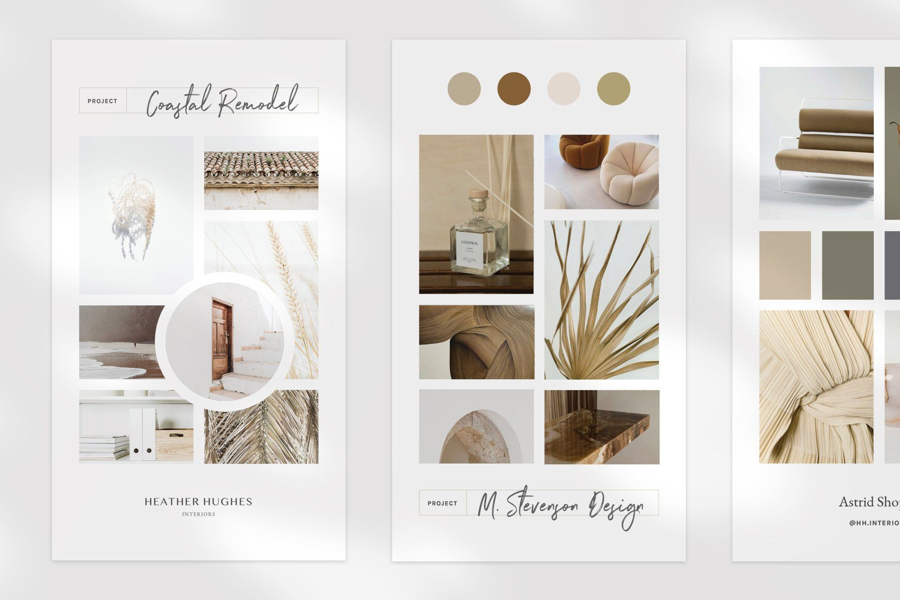 Pima Indesign Mood Board Templates Mood Board Template Footer