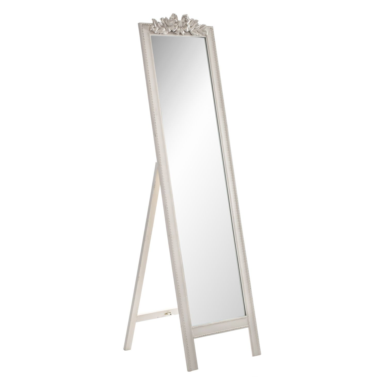 Ivory Bow Free Standing Mirror