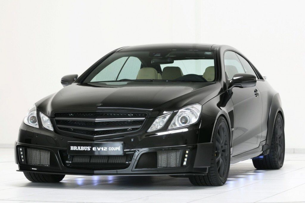Black Mercedes Benz E350 Coupe With Blue Led Super Cars