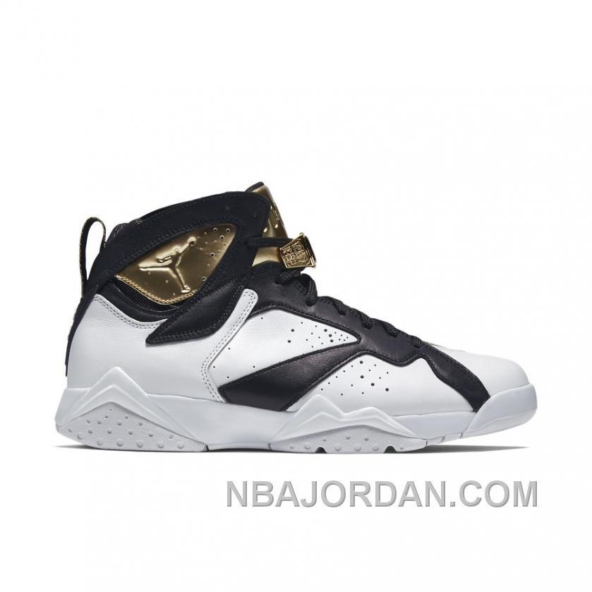 detailed look 8dace 7e6eb Authentic 725093-140 Air Jordan 7 Retro C C White Metallic Gold-Black  Christmas Deals, Price   169.00 - 2017 New Jordan Shoes, Nike Jordan Shoes