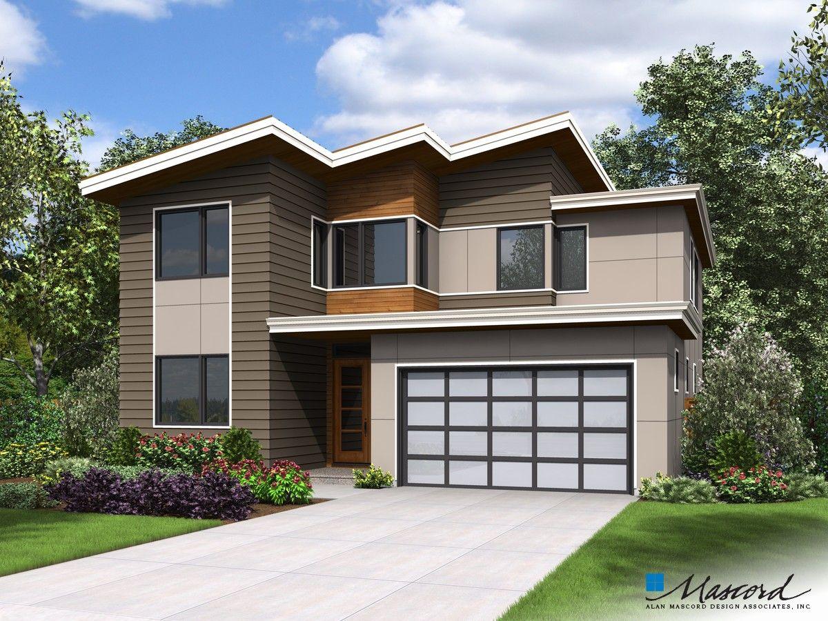Mascord Plan 22209 The Golden Contemporary House Plans House Plans Farmhouse Style House Plans