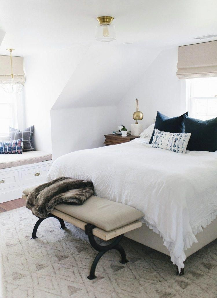 This Gorgeous Cape Cod Inspired Home Tour By Studio Mcgee Seamlessly Blends Classic Modern And Bohemian Tou Cozy Master Bedroom Simple Bedroom Bedroom Design