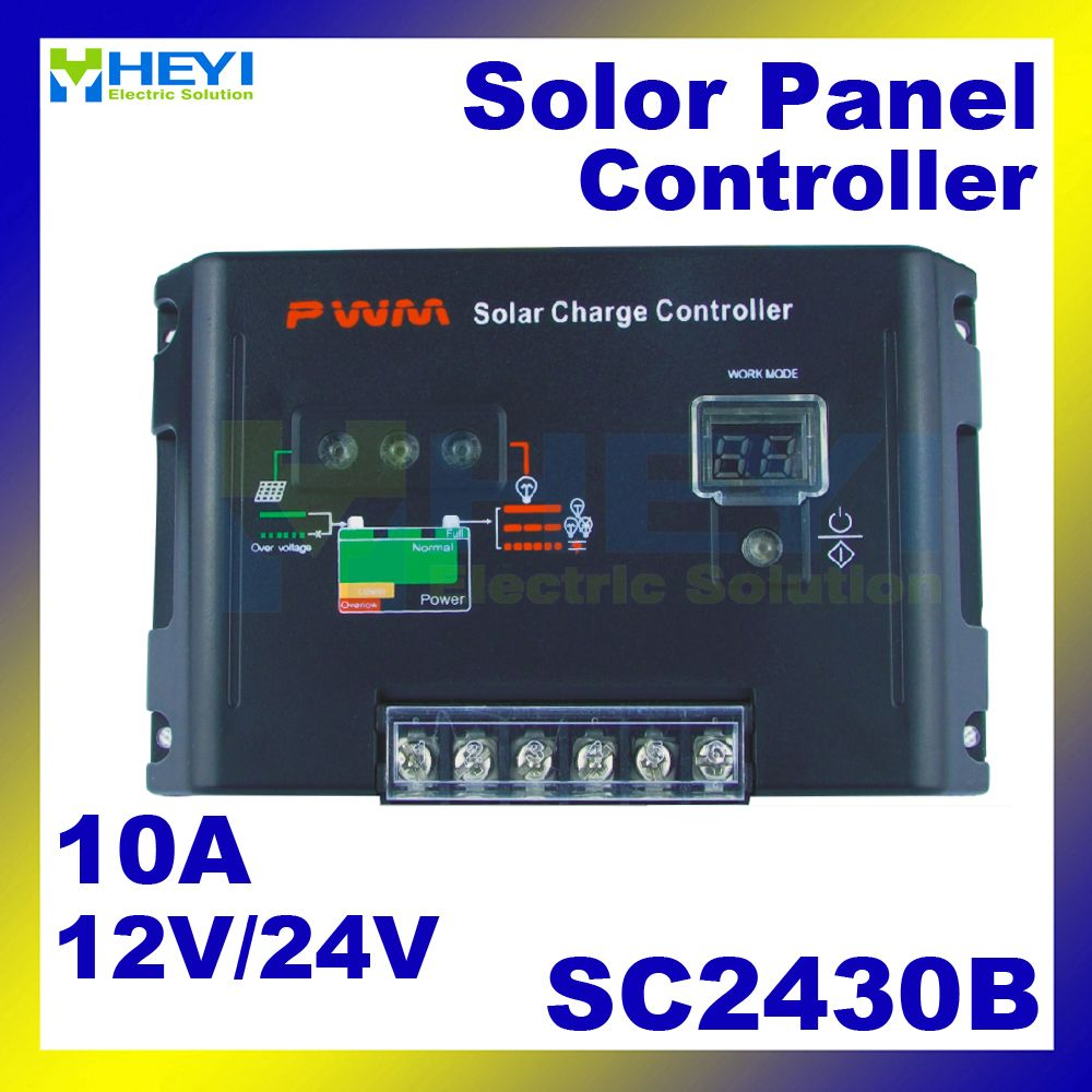 Universal Solar Charge And Discharge Controller Sc2430b 12v 24v 10a Solar Controller Pwm For Sol Solar Security Light Solar Street Light Solar Pathway Lights