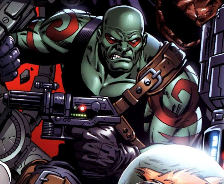 Drax The Destroyer Vs Venom: Drax And What Looks Like The Top Of Rocket