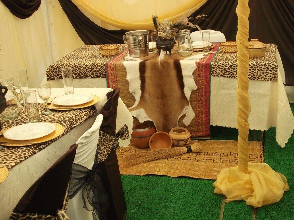 Orange traditional wedding decor  Nigeria traditional wedding decoration pictures nigerian setswana