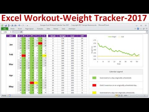 microsoft excel workout planner exercise log and weight tracker