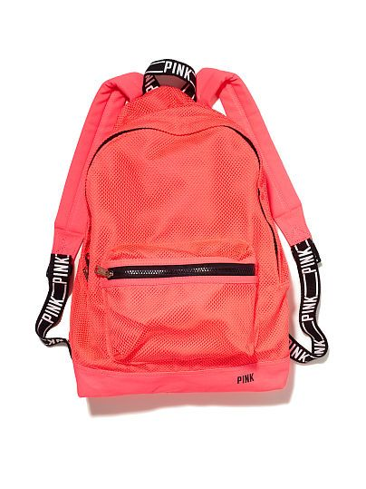 5da0ee9525ad Classic Mesh Backpack PINK ~ Love the neons. But another instance of  teal   and  turquoise  being used interchangeably...noooooooo.