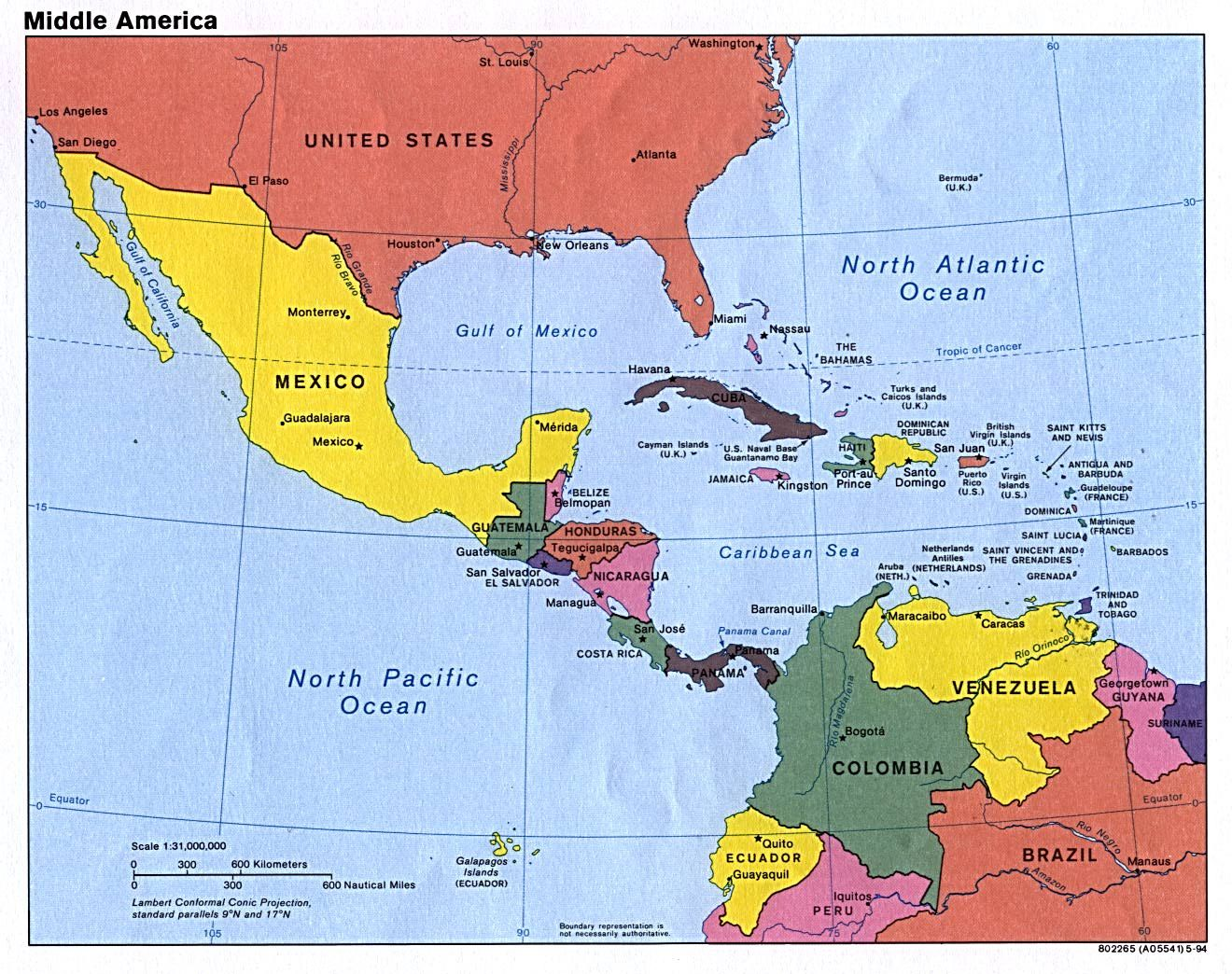 Map Of Mexico And Central America Blank Map Of Mexico And - North and south america map