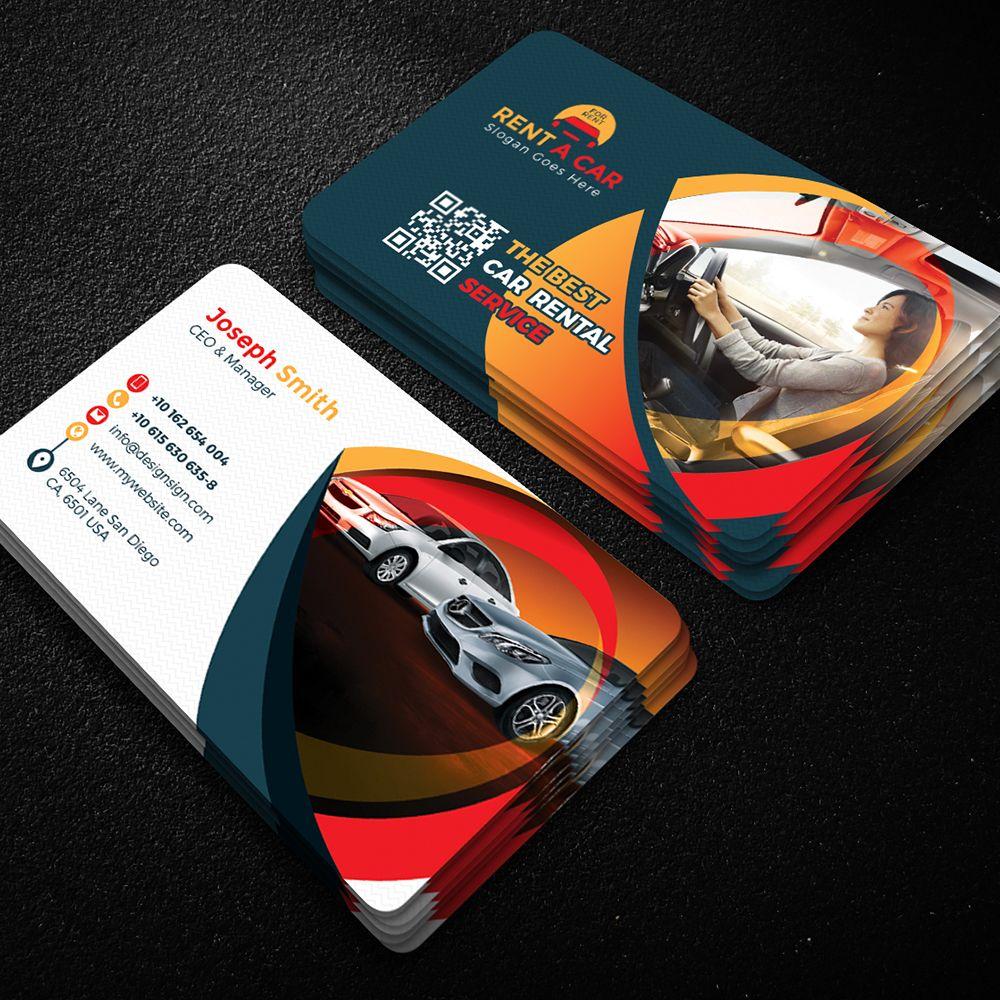 Rent A Car Business Card Design 63860 Personal Design Business Card Design Round Business Cards Visiting Card Design