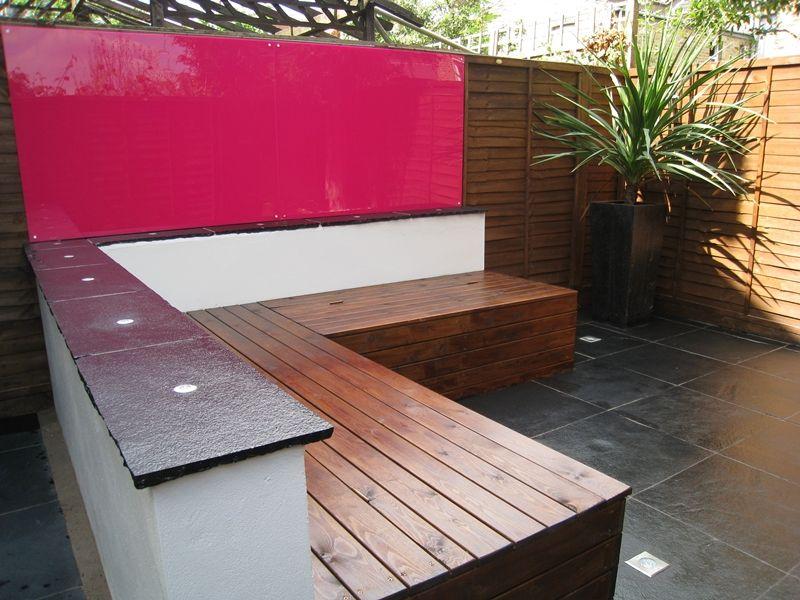 Contemporary Outdoor Storage Bench Organized Yard 640 x 480