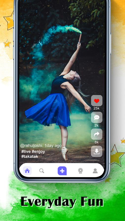The Indiktok Tiktok Clone By Codderlab Ad Indiktok Sponsored Tiktok Clone Social Media Pinterest Clone Mobile Application