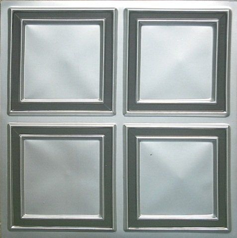 Decorative Plastic Ceiling Tiles Entrancing Cheapest Decorative 2X2 Tin Plastic Ceiling Tile #145 Silver Black Inspiration Design