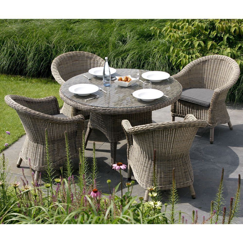 Table de jardin VICTORIA Plateau verre 4 Seasons Outdoor