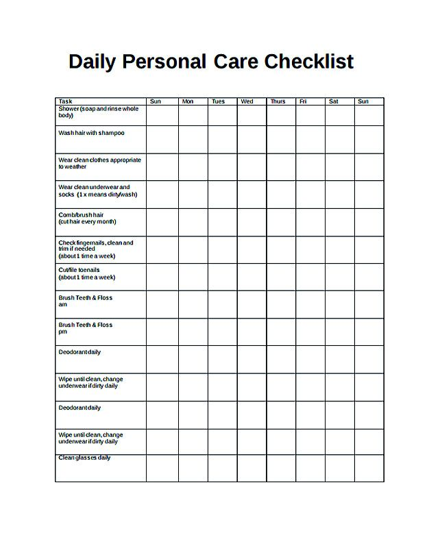 Free Daily Checklist Template and Its Purposes , Daily checklist - daily task sheet template