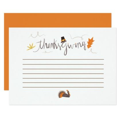 Thanksgiving what are you thankful for card - thanksgiving
