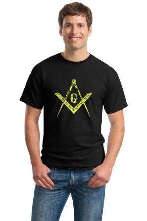 Amazon.com: FREEMASON SQUARE & COMPASS Adult Unisex T-shirt / Freemasonry Masonic Symbol Tee: Clothing