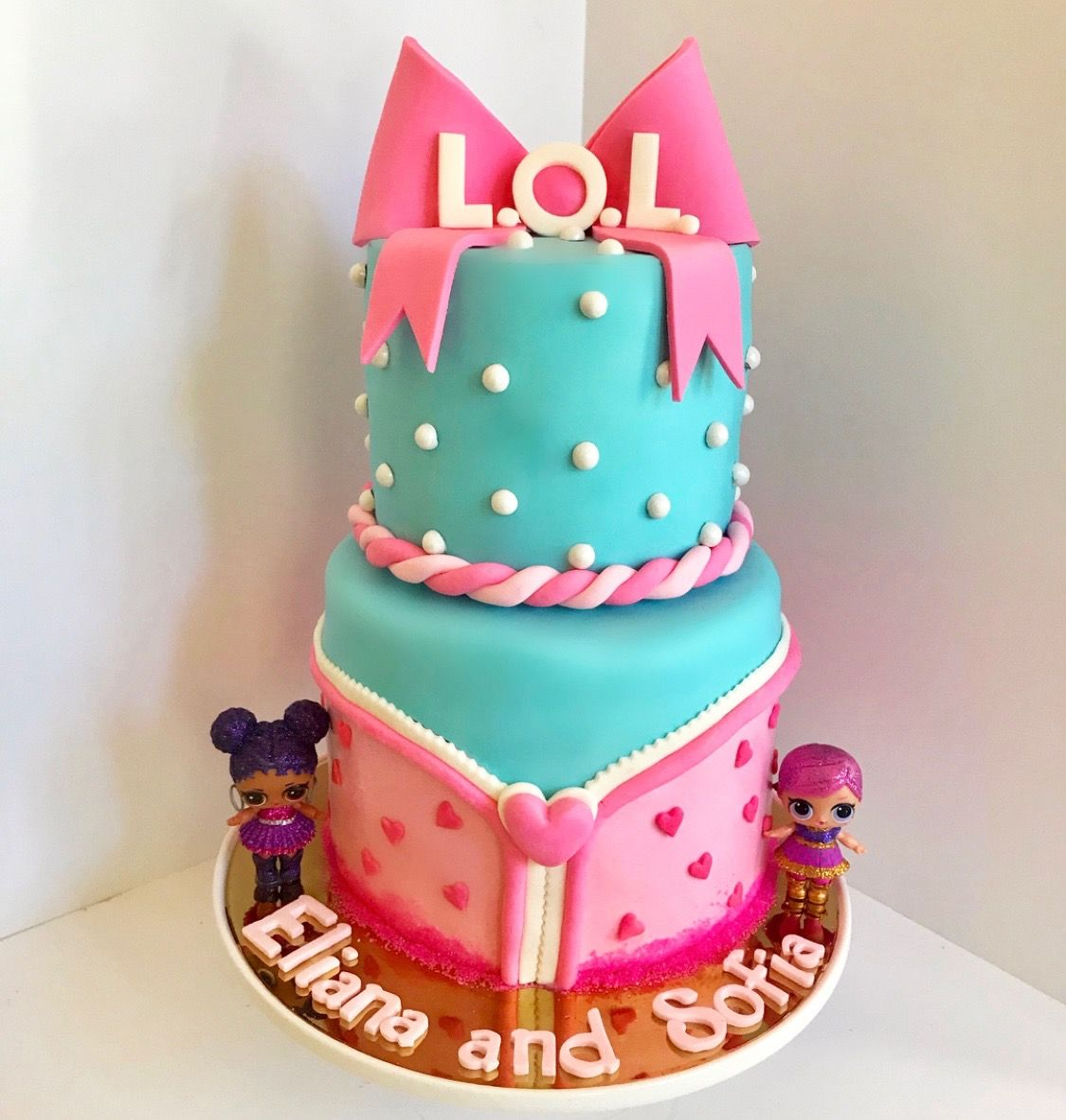 LOL Surprise Dolls 2tier Birthday Cake LOL Surprise Party Ideas
