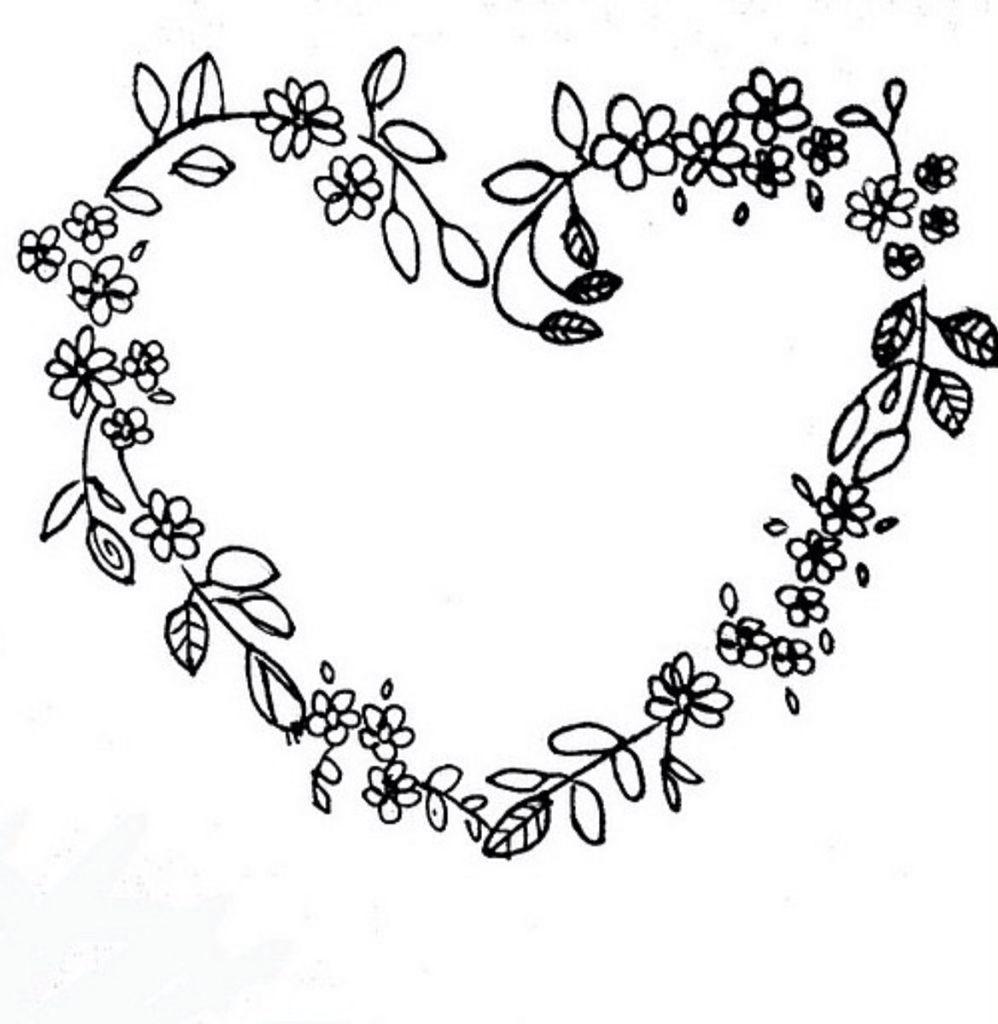 Photo of Black flowered heart