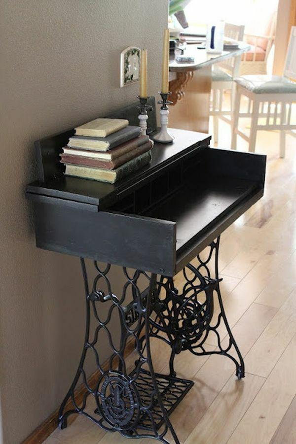 alte m bel neu gestalten die alte n hmaschine als vintage m bel upcycling desk redo and shabby. Black Bedroom Furniture Sets. Home Design Ideas