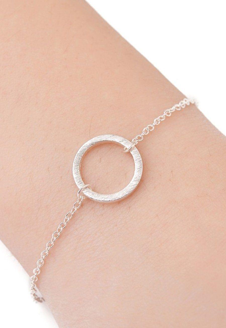 Abby simple minimalist circle chain bracelet in bracelets