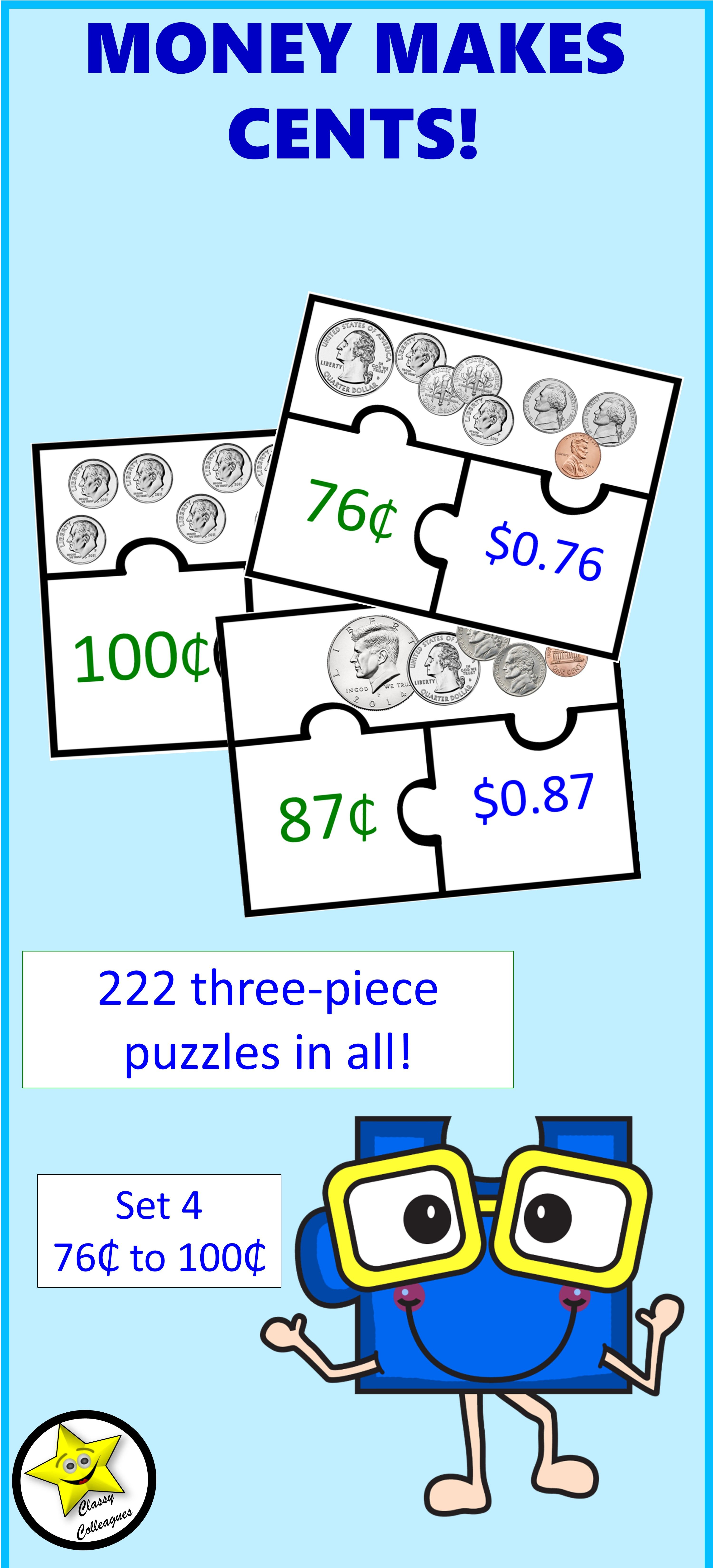 Money Puzzles Set 4 With Images