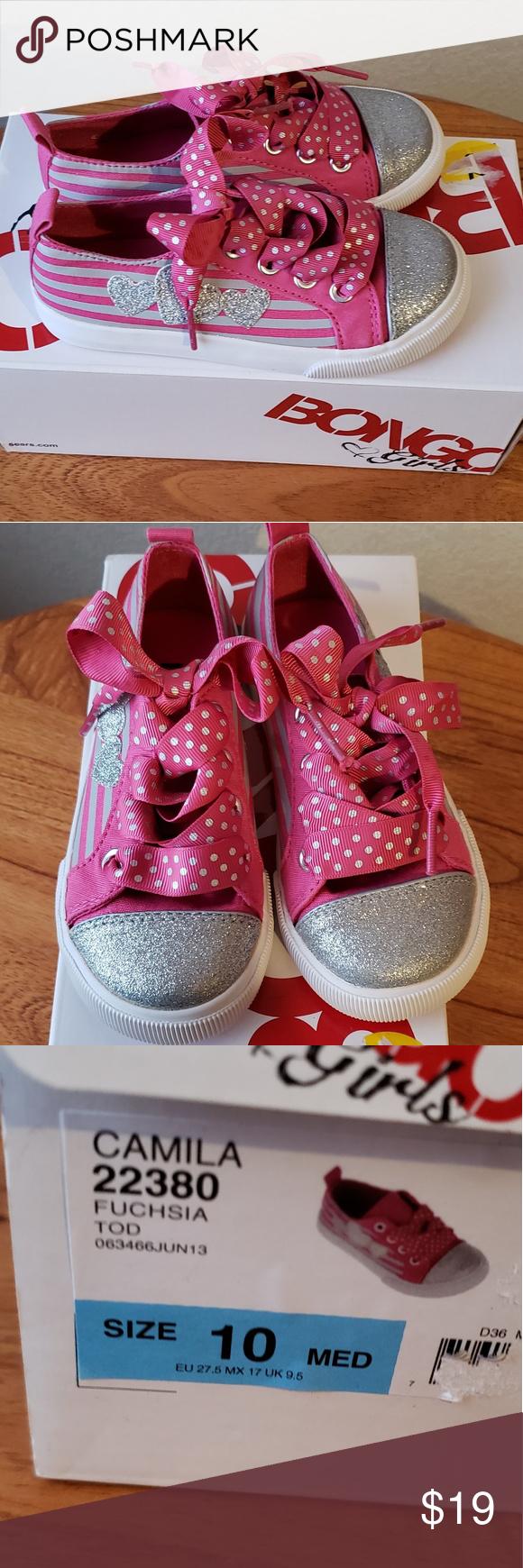 Toddler pink glitter bongo sneakers shoes nwt my posh picks
