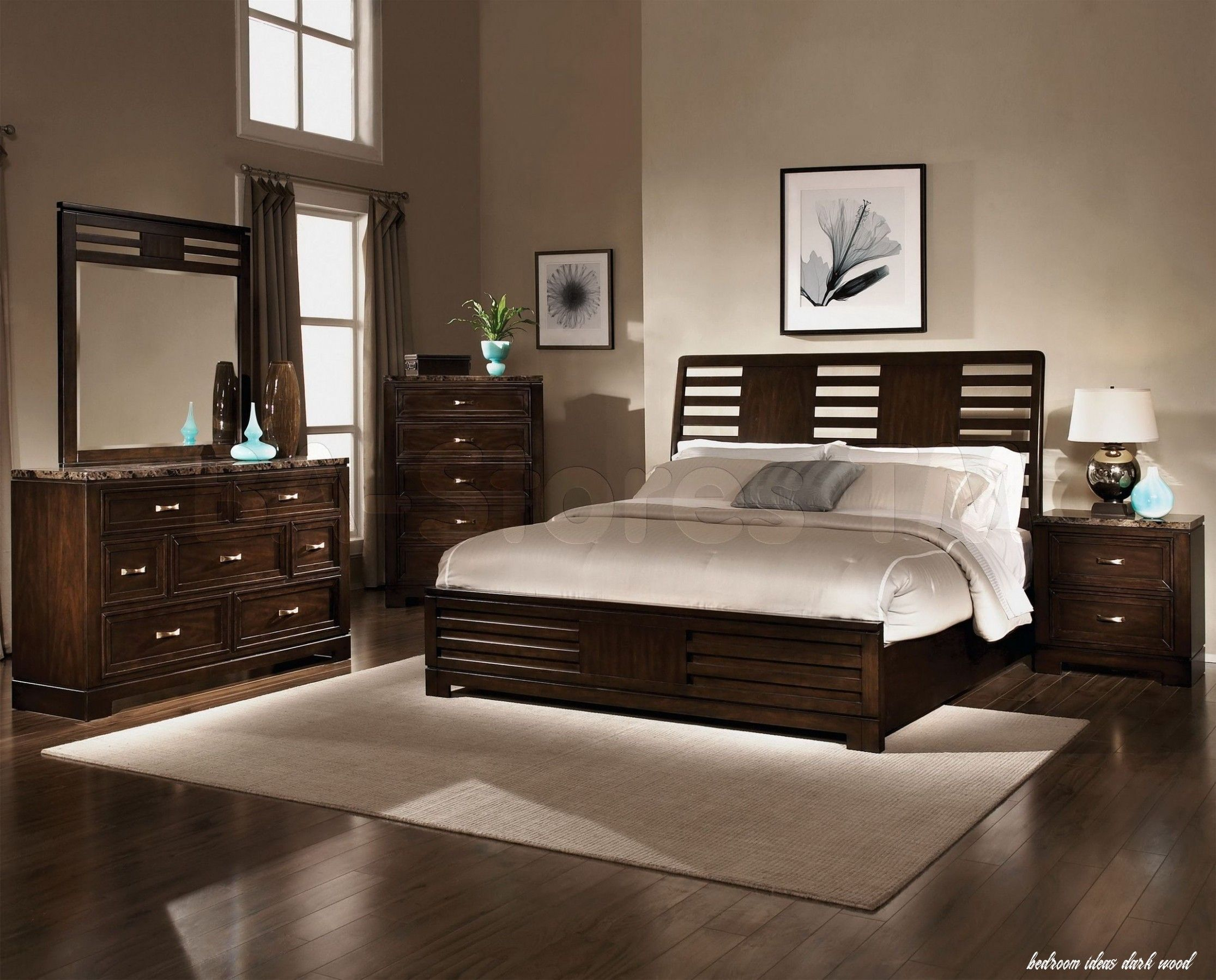 45++ Bedroom paint color with dark wood furniture information