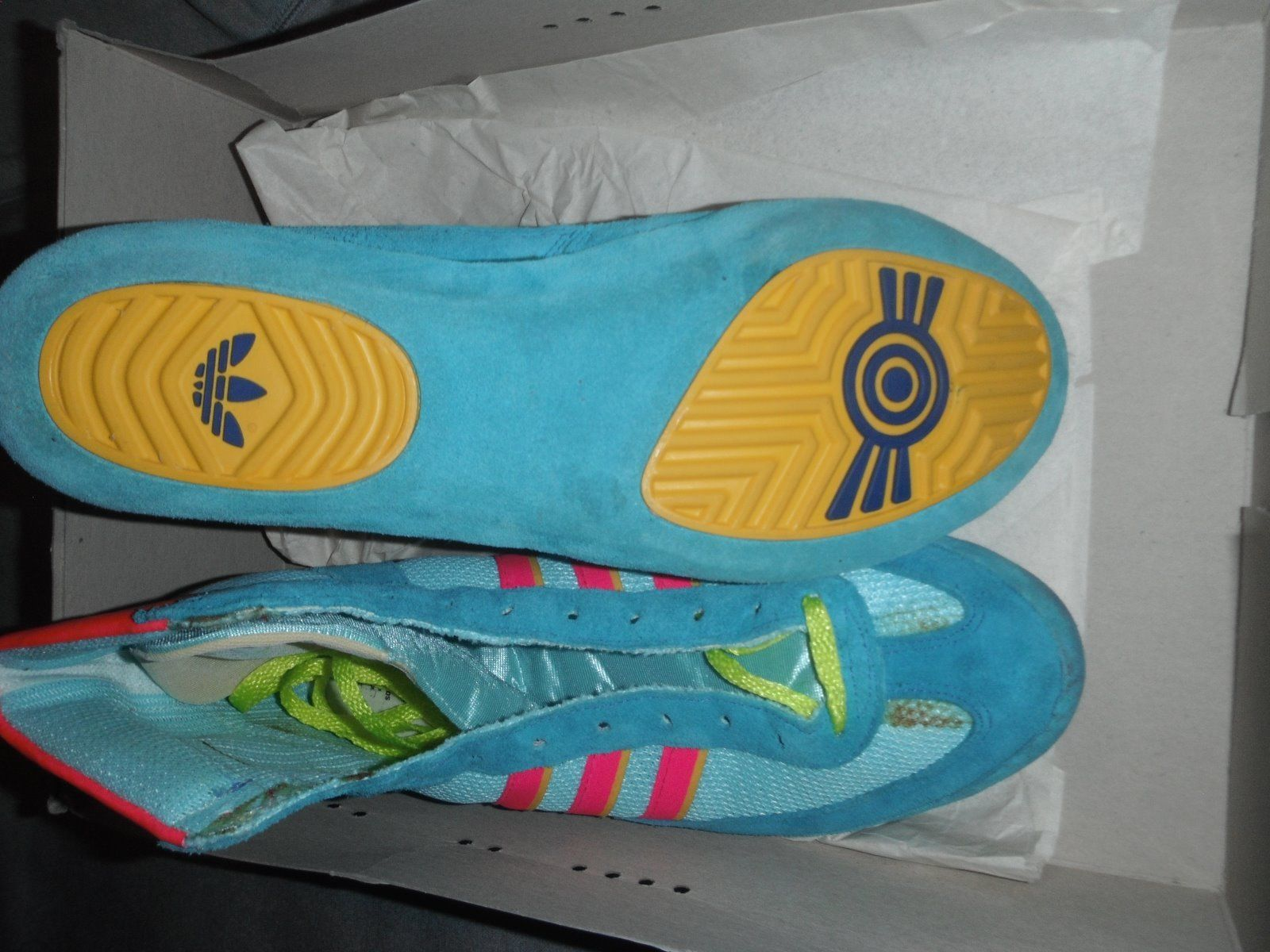 super popular 83fc6 50da2 Adidas 88 Teals Ringerstiefel (Very Rare) Wrestling Shoes Size 10.5 (10  12)  eBay