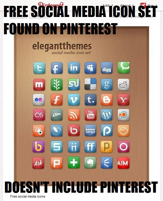 Social Media Icon Meme Pinterest Social Media Icons Free Social Media Icons Media Icon
