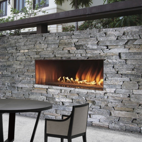 Empire Carol Rose Linear 60 Inch Outdoor Gas Fireplace Fireplace