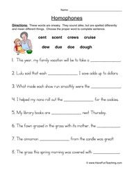Homophones Worksheet 2 | Worksheets, Teaching vocabulary and Language