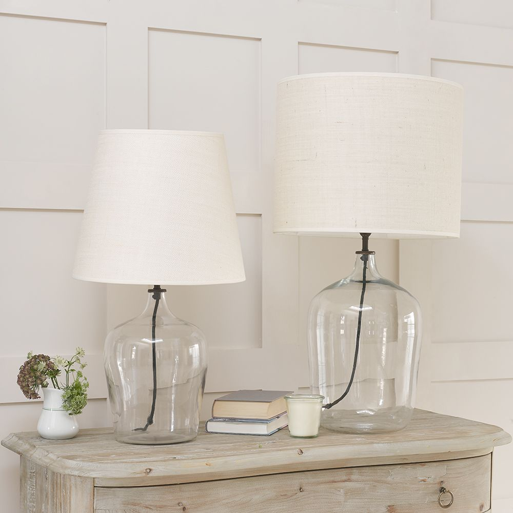 Gorgeous Flagon bedside glass table