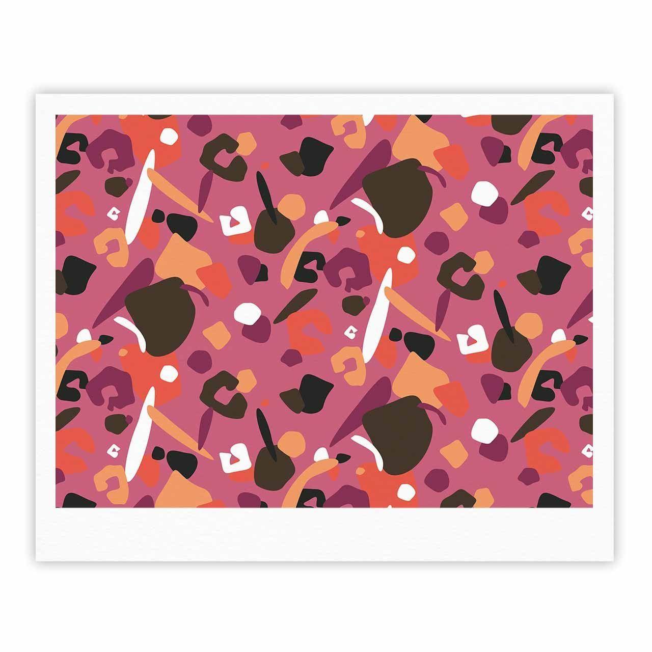 "Luvprintz ""Abstract Leopard "" Brown Pink Fine Art Gallery Print"