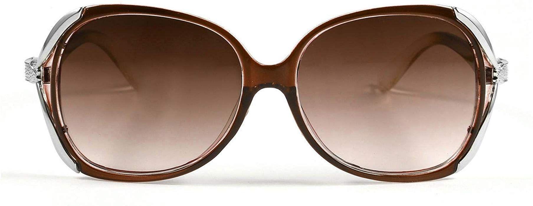 24bc47e91df3 Amazon.com  Bulges New Women Fashion Sunglasses Eyewear Vintage Style  Casual Round Shape Sunglasses(8 colors)  Clothing