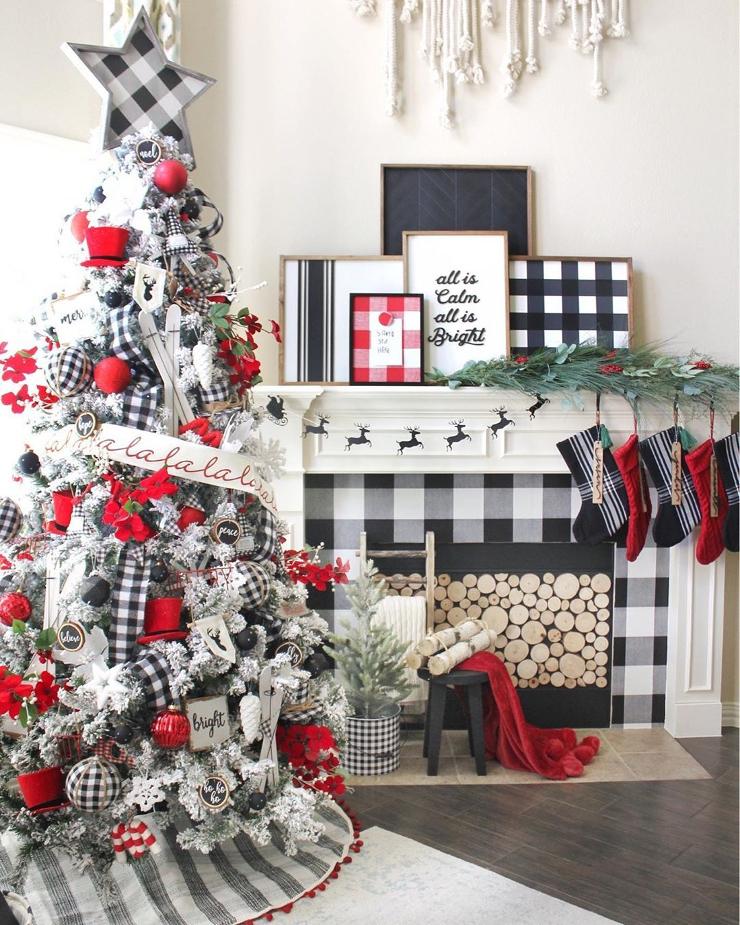 Susan Mcinnis On Instagram If You Saw My Home Tour You May Have Noticed We Moved Our Tre Christmas Fireplace Mantels Farmhouse Christmas Decor Christmas Home