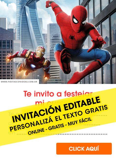 Tarjeta De Cumpleaños De Spiderman Campos En 2019