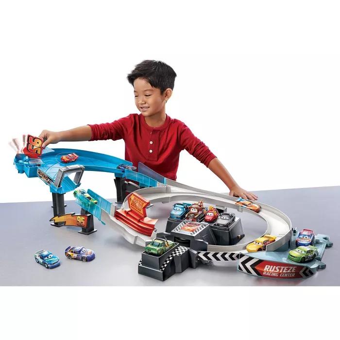 Disney Pixar Cars Rusteze Double Circuit Speedway Trackset Disney Pixar Cars Pixar Cars Disney Pixar