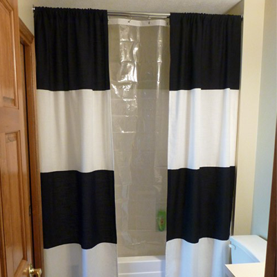 Black striped diy shower curtain i like that the curtains are black striped diy shower curtain i like that the curtains are apart solutioingenieria Choice Image